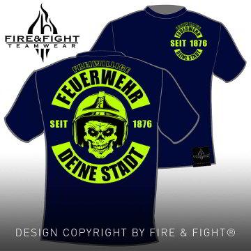 Skull-Chart-FFW-T-Shirt-navy-neongelb