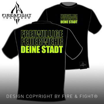Klassik_Freiwillige-Feuerwehr-Ortsname-T-Shirt_black_neongelb