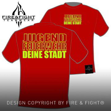 Freiwillige-Feuerwehr-Ortsname-T-Shirt-rot