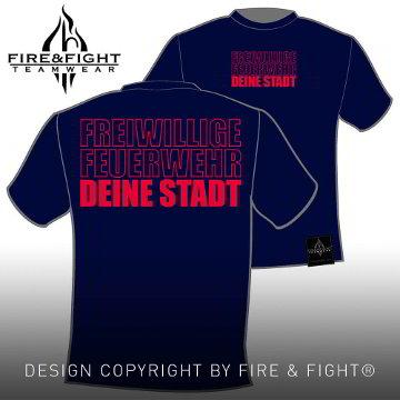 Klassik_Freiwillige-Feuerwehr-Ortsname-T-Shirt_navy_rot