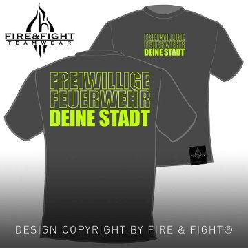 Klassik_Freiwillige-Feuerwehr-Ortsname-T-Shirt_darkgrey_neongelb