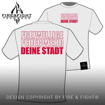 Klassik_Freiwillige-Feuerwehr-Ortsname-T-Shirt_weiss_rot