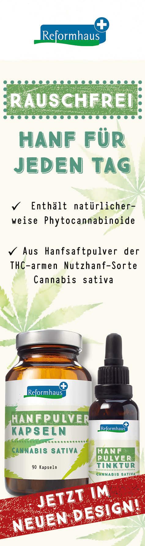Reformhaus Hanfpulver-Produkte