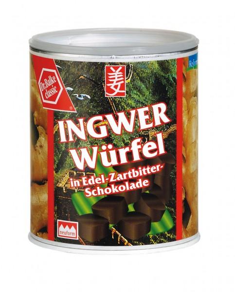 Dr. Balke - Ingwer-Würfel in Zartbitter-Schokolade