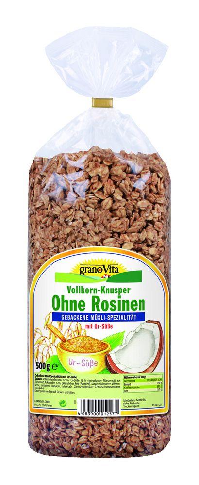 GranoVita - Vollkorn-Knusper Frühstück ohne Rosine 500g