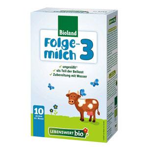 Bioland - Folgemilch 3 bio 475g