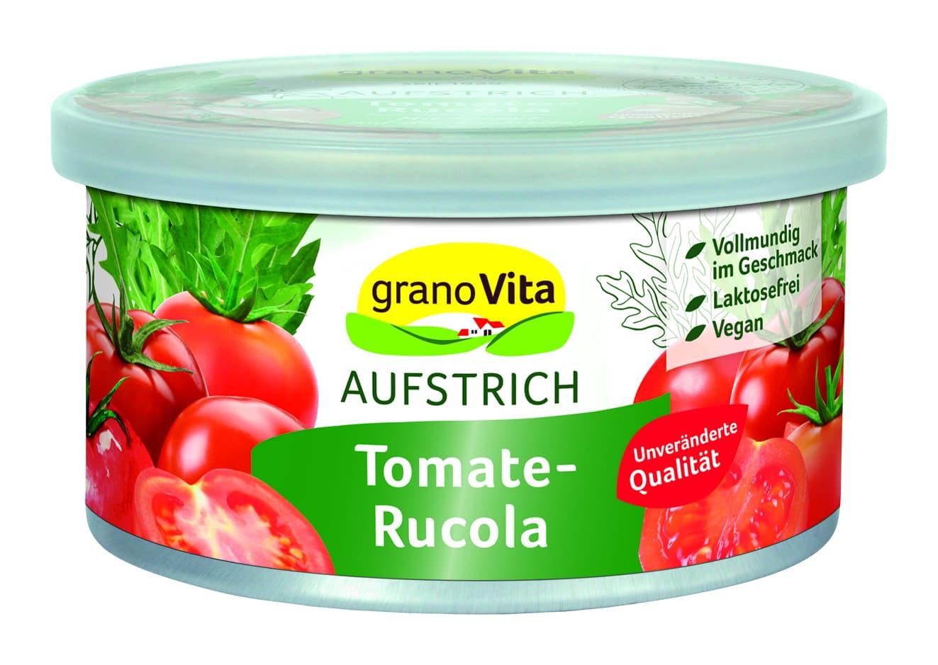 GranoVita - vegetarische Pastete Tomate Rucola 125g
