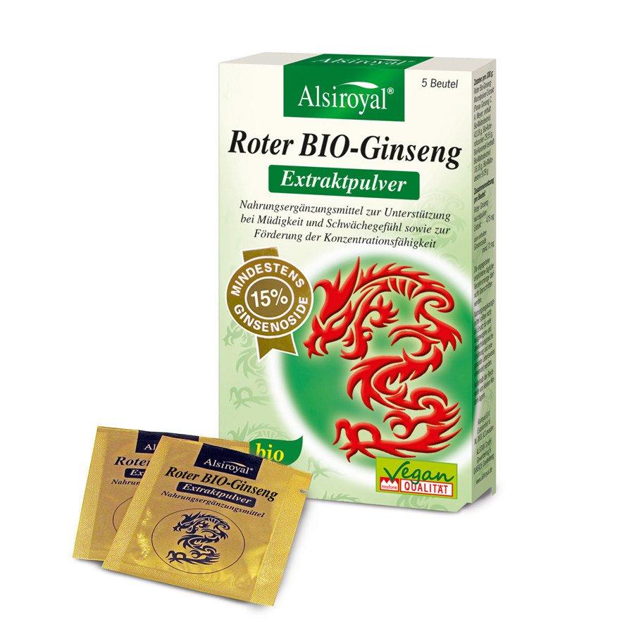 Alsiroyal - Roter Ginseng Extraktpulver Bio 5 Btl.