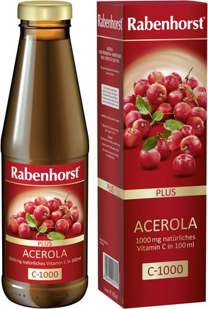 Rabenhorst - Acerola plus C-1000 ungesüßt 450ml