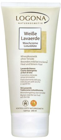Logona - Weiße Lavaerde Waschcreme Lotusblüte 200ml