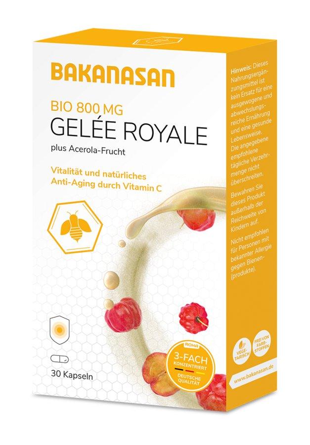 Bakanasan - Bio Gelée Royale Kapseln 800mg 30 St.