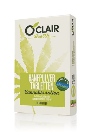 O'Clair Health - Hanfpulver-Tabletten 60 Stück