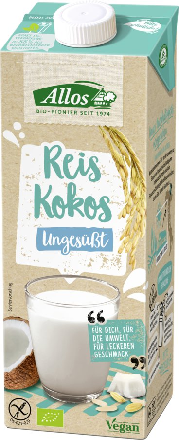 Allos - Reis-Kokos Drink naturell 1l