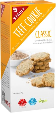 3 PAULY - Teff Cookie Classic glutenfrei 125g