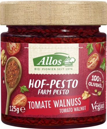 Allos - Hof-Pesto Tomate Walnuss bio vegan 125g