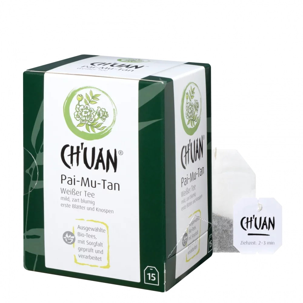 CH'UAN - Weißer Tee Pai-Mu-Tan bio vegan 15 Filterbeutel