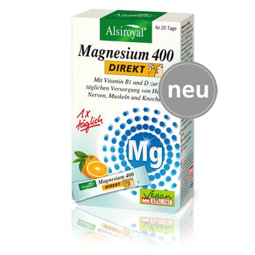 Alsiroyal - Magnesium 400 Direkt Orange 20 St.