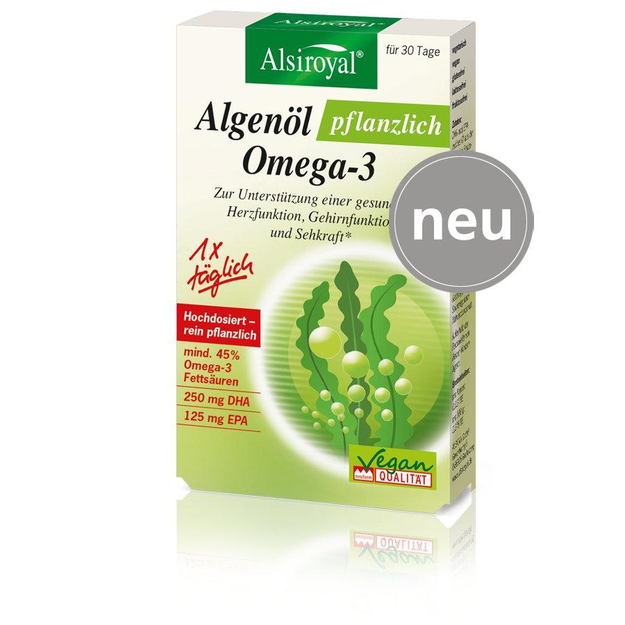 Alsiroyal - Algenöl pflanzlich Omega-3 30 kps.