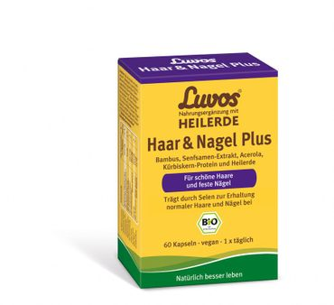 Luvos - Heilerde Haar & Nagel Plus bio 60 Kapseln