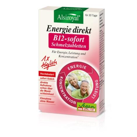 Alsiroyal® Energie direkt B12 Sofort-Schmelztabletten, 30 Stück