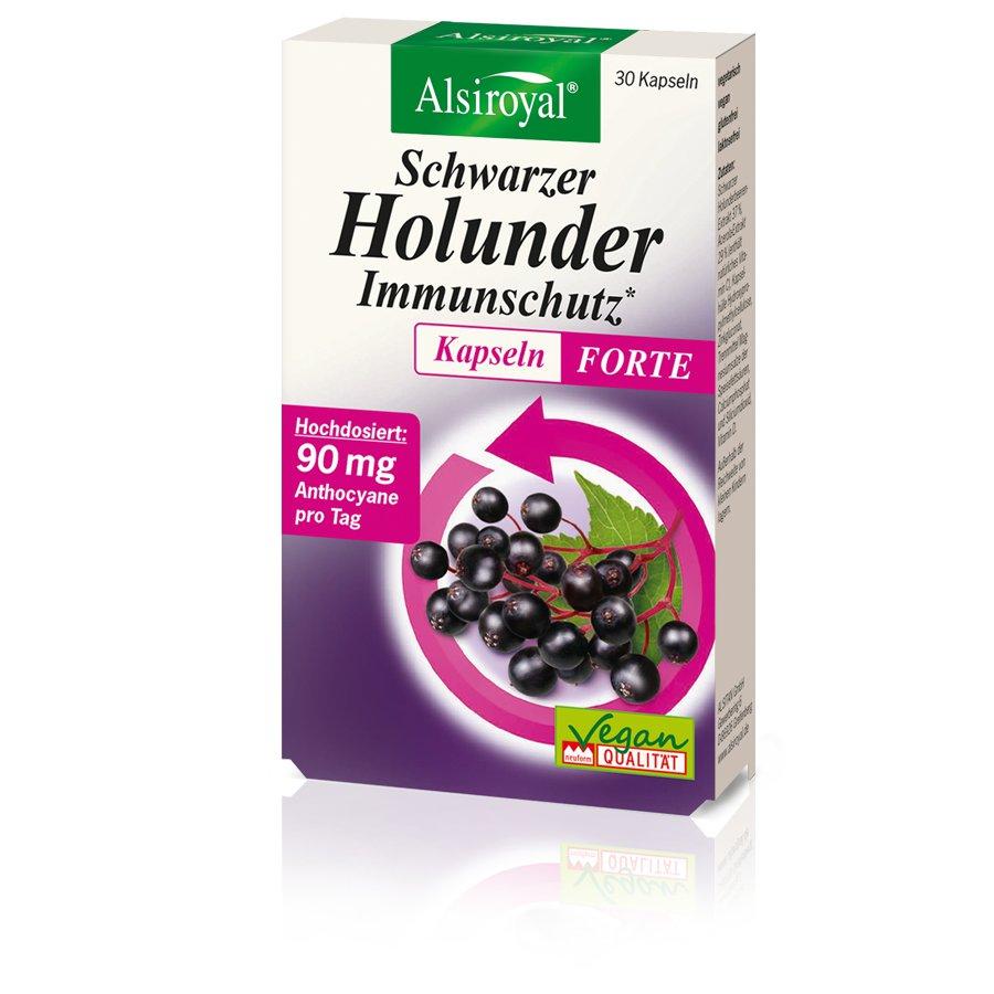 Alsiroyal - Schwarzer Holunder Immunschutz Kapseln Forte 30 Stk