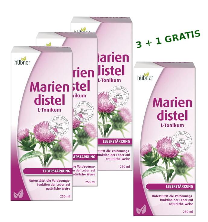 [Paket] Hübner - Mariendistel Set L-Tonikum 3x 250ml plus 1x 250ml Gratis