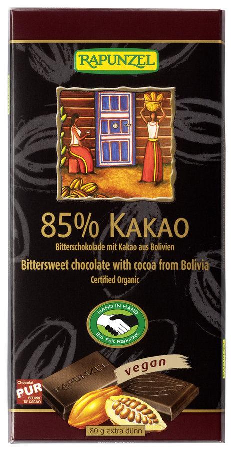 Rapunzel - Bitterschokolade 85% bio 80g