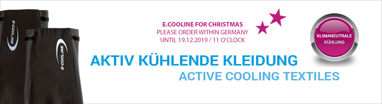 E.COOLINE Cooling textiles Christmas 2019