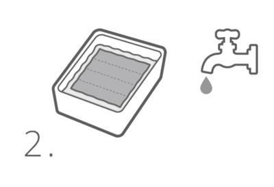 E.COOLINE Produkt in Wasser eintunken