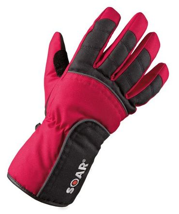 Handschuhe LEV HS New Scooter schwarz rot S-8 80700052