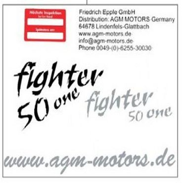 Dekoraufkleber Fighter 50 One New 2Takt 1220301-9
