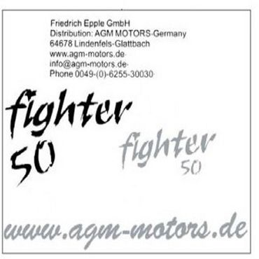 Dekoraufkleber Fighter 50 old 2Takt 50 1220301-13