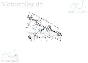 Kurbelwelle komplett 11400-NAF-00