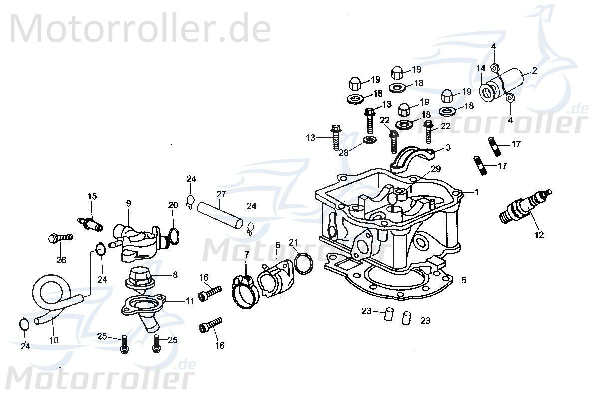 Roller Motorroller Zündkerze ignition plug Eppella ECM GK 125
