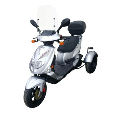 pgo tr3 trike roller 45 km h silber topcase windschild. Black Bedroom Furniture Sets. Home Design Ideas