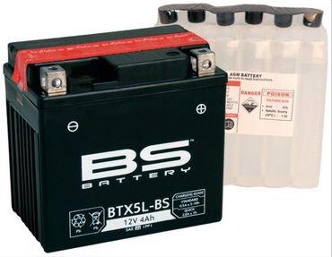 Batterie BTX5L-BS 12V 4Ah DIN 50412 114x106x71mm 5379979