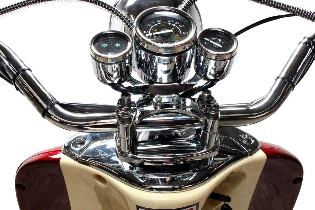 Znen Retro ZN50QT-H Roller Mokick 45 km creme/burgunder Euro 4