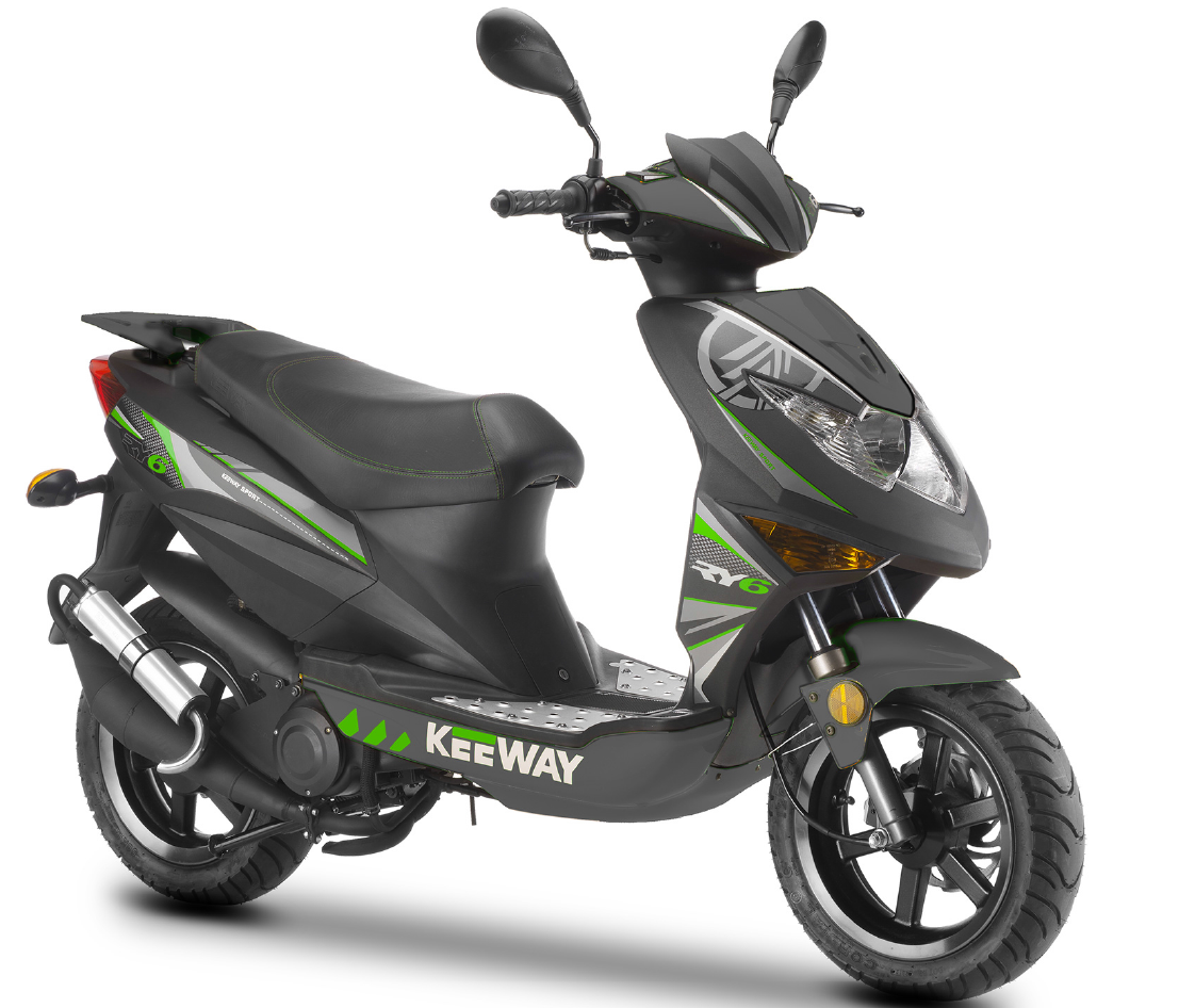 keeway ry6 45 km h motorroller scooter grau gr n. Black Bedroom Furniture Sets. Home Design Ideas