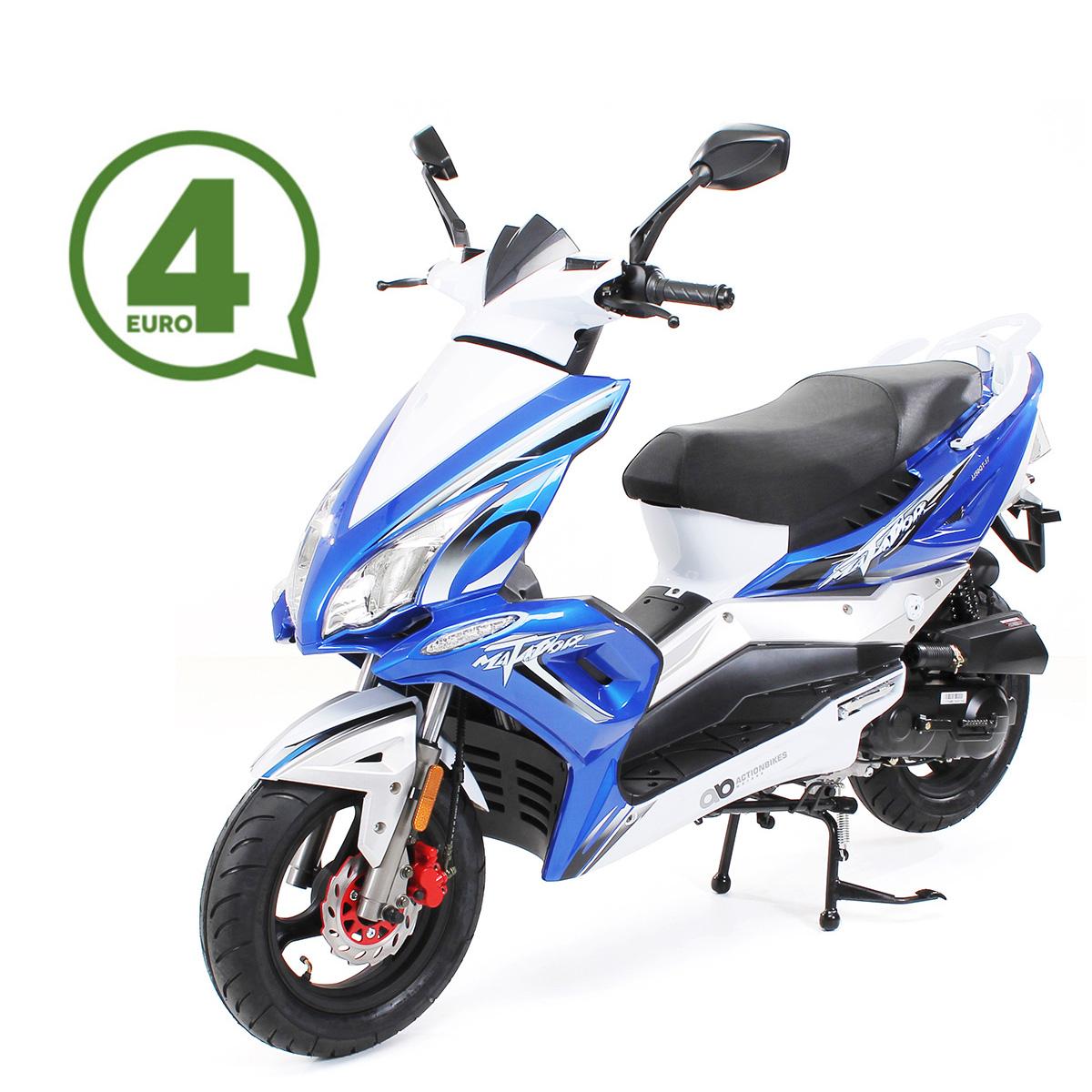 Matador JJ50QT-17 Motorroller Mokick 45 km/h blau-weiß Euro 4