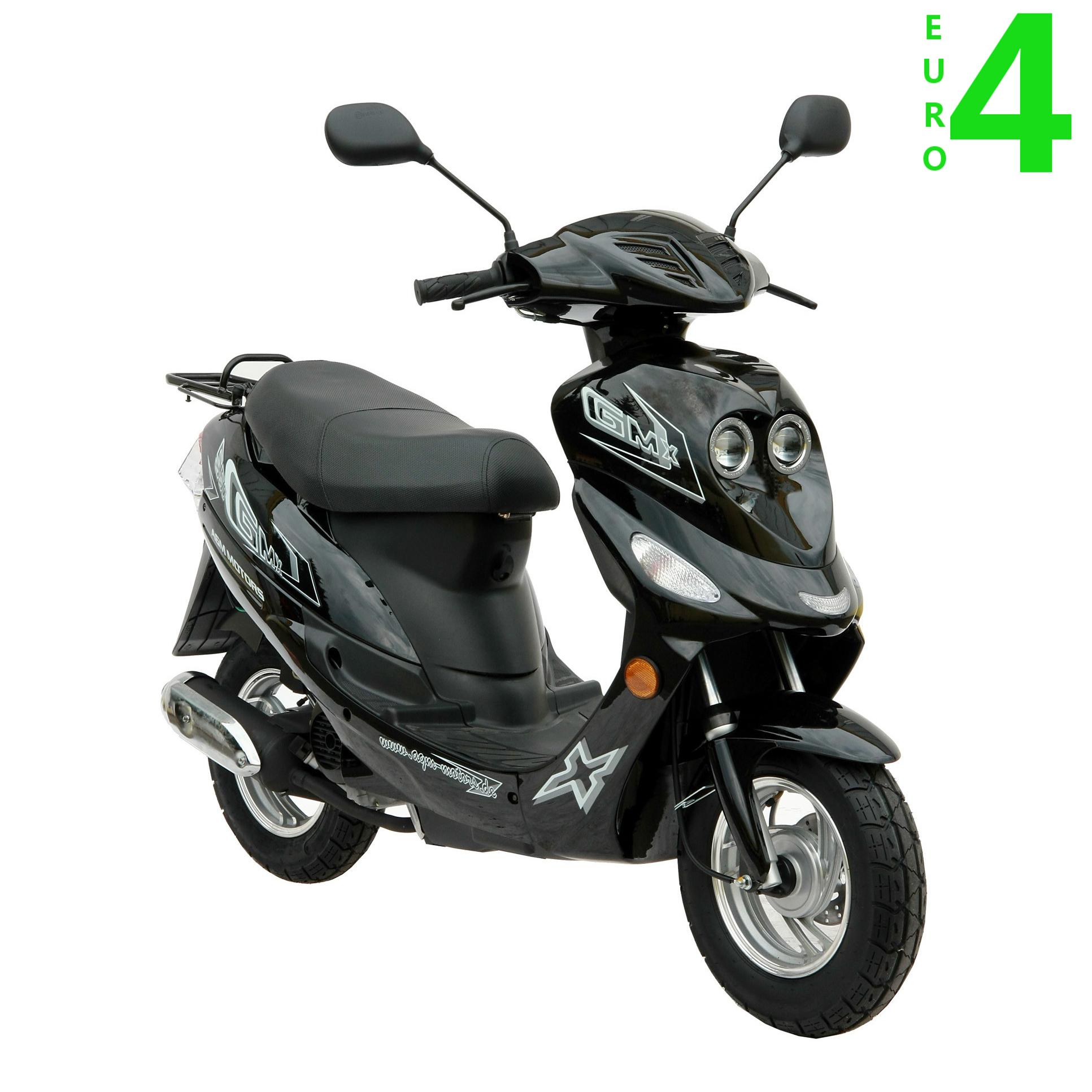 gmx 550 motorroller scooter mofa 25 km h schwarz euro 4. Black Bedroom Furniture Sets. Home Design Ideas