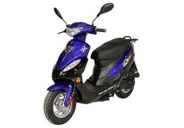 GMX 450 Roller, Scooter, Mokick 45 km/h blau/schwarz Euro 4