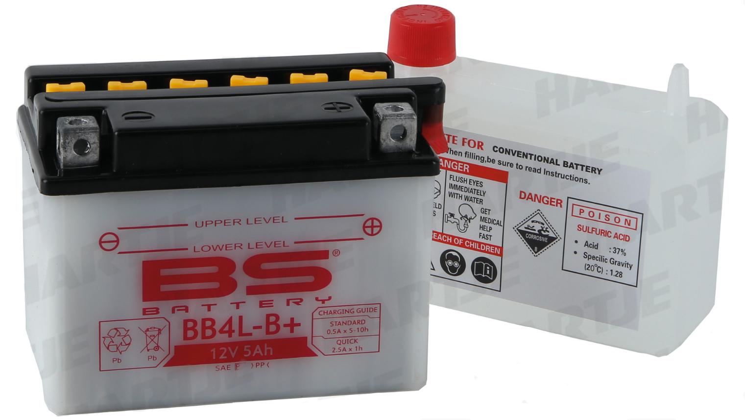 Batterie BB4L-B+ 12V 5Ah 0,29 Liter 05378039