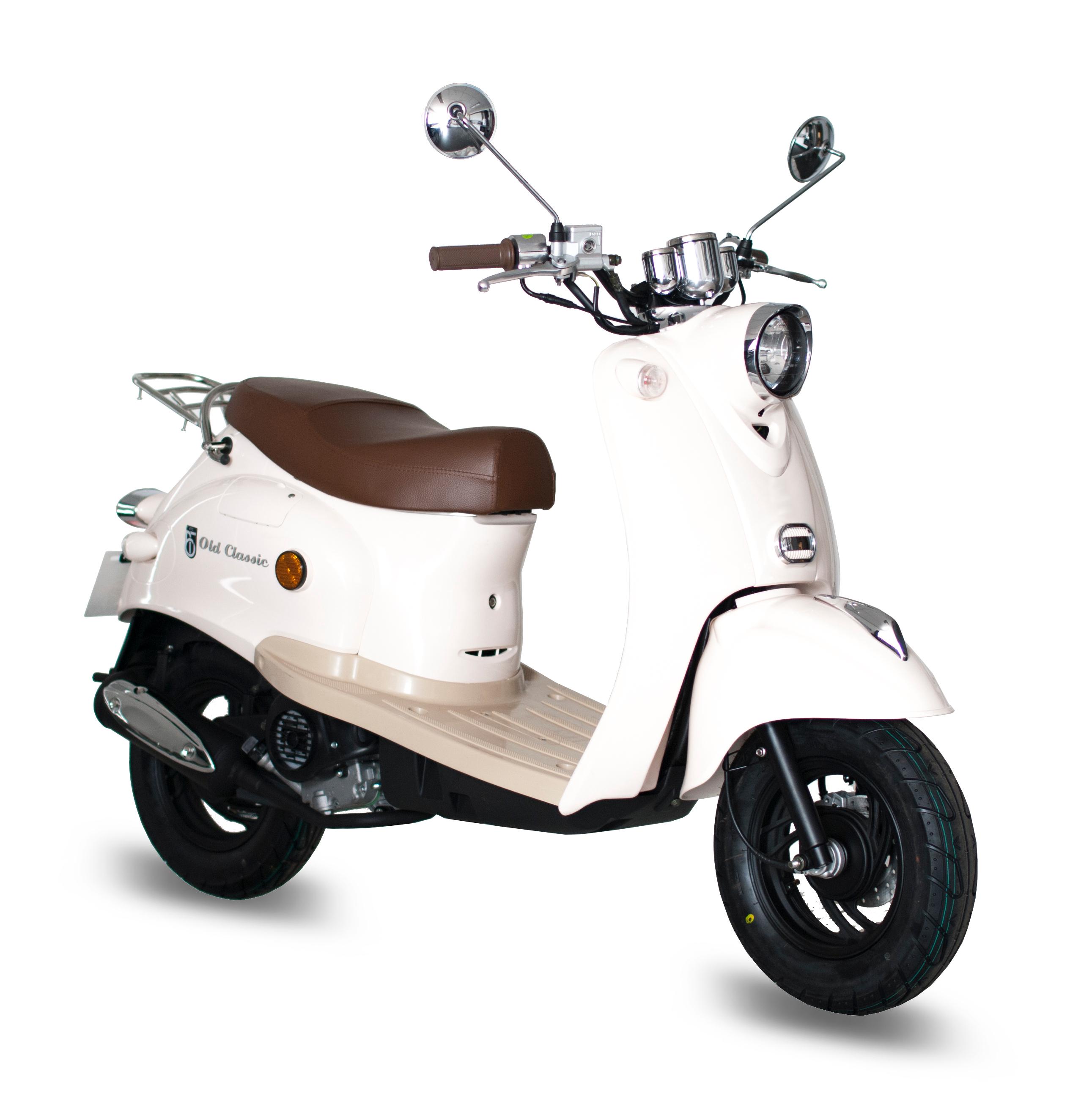 GMX 460 Retro Classic Motorroller 45 km/h cremeweiß Euro 4