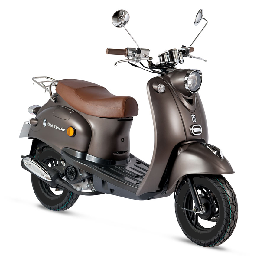 gmx 460 retro scooter 25 km h braun 4 takt 50ccm motor. Black Bedroom Furniture Sets. Home Design Ideas