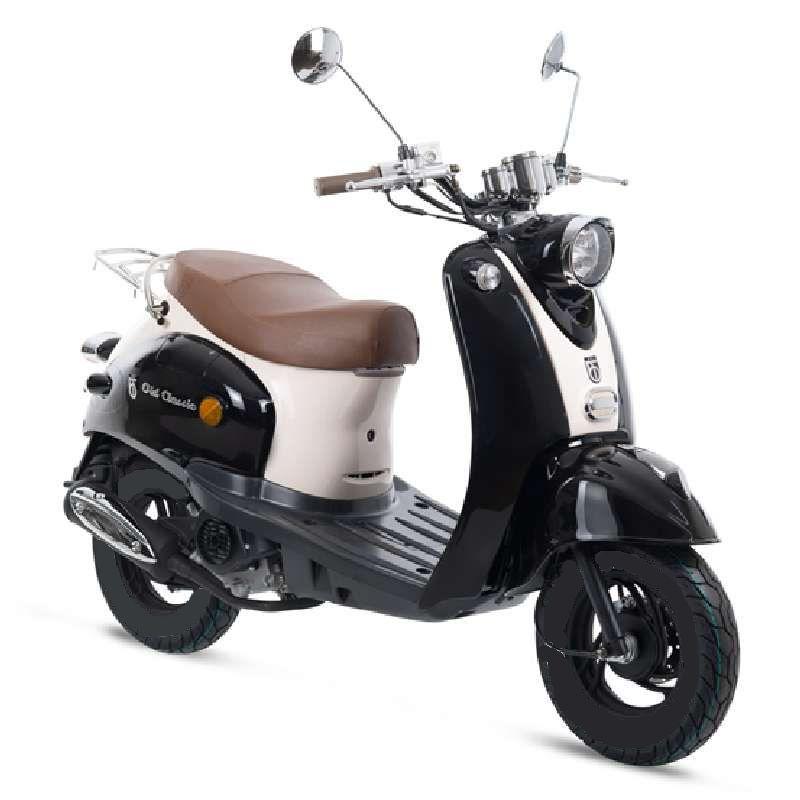 GMX 460 Retro Classic Motorroller 45 km/h schwarz weiß Euro 4