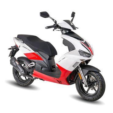 Firejet SW 25 Sport 25 km/h weiß-rot Motorroller Roller Scooter
