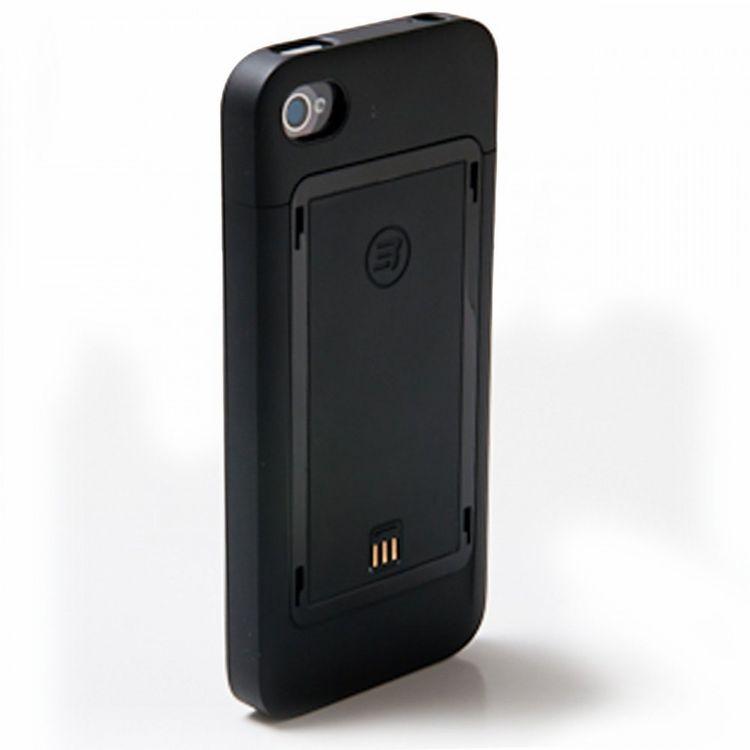 Third Rail Slim Schutzhülle und Smart Akku 1250mAh Combo Pack für iPhone 4 4S