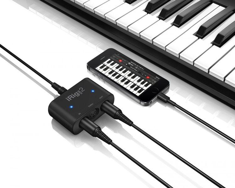 IK Multimedia iRig Midi 2 Lightning/USB MIDI-Interface für iPhone, iPad und Mac/PC