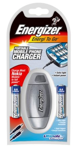 Energizer Energi To Go Nokia inkl. 2 x Ultimate Lithium AA Batterien