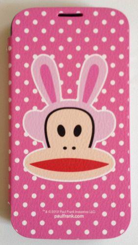 Original Paul Frank® Flip Tasche Cover Kunstleder für Samsung Galaxy S4 / LTE mit Design Bunny pink